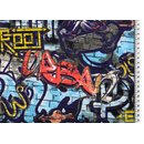 French Terry Stoff Graffiti back side Druck
